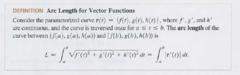 Arc Length of a vector function on an interval?