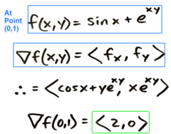 Chapter11.6: Ex2  Find the gradient vector of the given function at the specified point