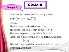 Domain of a vector function?