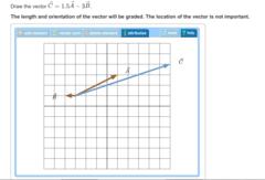 Draw the vector C⃗ =1.5A⃗ −3B⃗