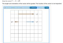 Draw the vector C⃗ =A⃗ +2B⃗
