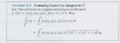 Formula for evaluating a SCALAR Line Integral? How is it derived?