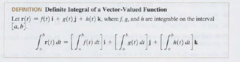 How is the definite integral of a vector-valued function taken?