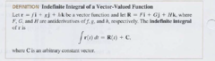 How is the indefinite integral of a vector valued function taken?