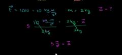 How will mass affect acceleration?