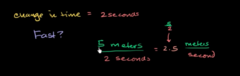 Lets now look at speed and velocity. Which one is vector and which one is scaler?