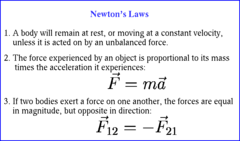 Lets now move on to Newton's Second Law: