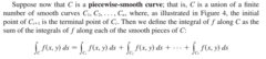 Piecewise Smooth Curve