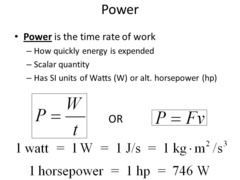Power units in metric system: