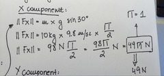 Step #2 Calculate the X component