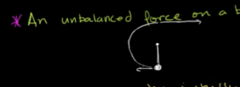 True or False: An unbalanced forced on the body will always impact the object speed.