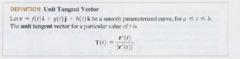 Unit tangent vector?