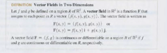 Vector Field (Function definition)
