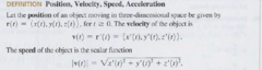 Velocity vector? What does the magnitude of this vector produce?
