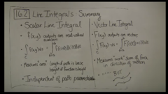 What are the main differences between Scalar and Vector Line Integrals?